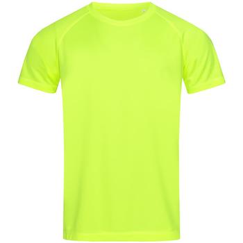 vaatteet Miehet Lyhythihainen t-paita Stedman  Cyber Yellow