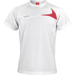 vaatteet Miehet Lyhythihainen t-paita Spiro S182M White/Red
