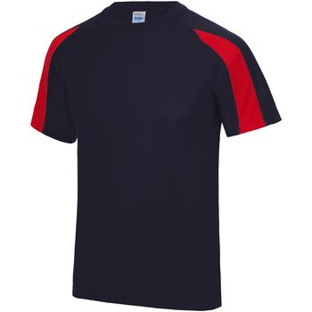 vaatteet Miehet Lyhythihainen t-paita Just Cool JC003 French Navy/Fire Red