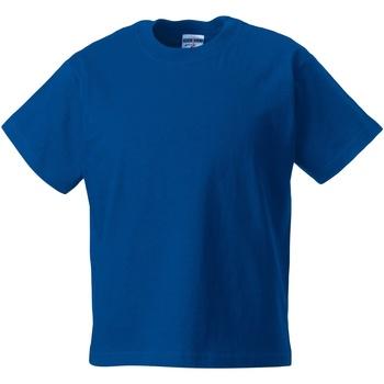 vaatteet Lapset Lyhythihainen t-paita Jerzees Schoolgear ZT180B Bright Royal