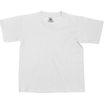 vaatteet Lapset Lyhythihainen t-paita B And C Exact White