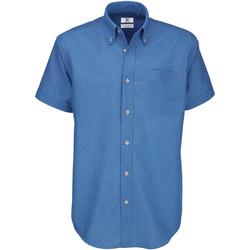 vaatteet Miehet Lyhythihainen paitapusero B And C SMO02 Blue Chip