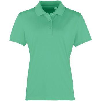vaatteet Naiset Lyhythihainen poolopaita Premier PR616 Kelly