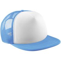 Asusteet / tarvikkeet Lippalakit Beechfield B645 Sky Blue/White