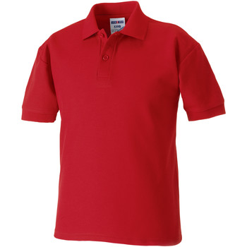 vaatteet Pojat Lyhythihainen poolopaita Jerzees Schoolgear 539B Classic Red