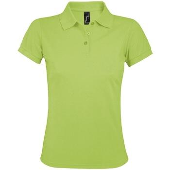 vaatteet Naiset Lyhythihainen poolopaita Sols 10573 Apple Green