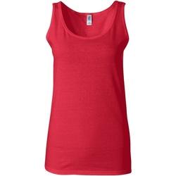 vaatteet Naiset Hihattomat paidat / Hihattomat t-paidat Gildan 64200L Cherry Red