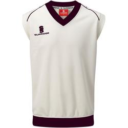 vaatteet Miehet Hihattomat paidat / Hihattomat t-paidat Surridge SU012 White/ Maroon Trim