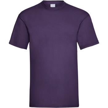 vaatteet Miehet Lyhythihainen t-paita Universal Textiles 61036 Grape
