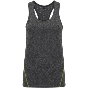 vaatteet Naiset Hihattomat paidat / Hihattomat t-paidat Tridri TR041 Black Melange