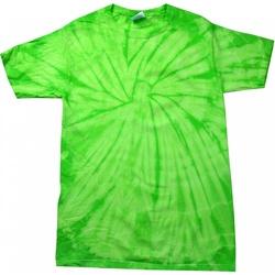 vaatteet Lyhythihainen t-paita Colortone Tonal Spider Lime