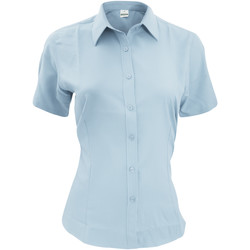 vaatteet Miehet Lyhythihainen paitapusero Henbury HB596 Light Blue