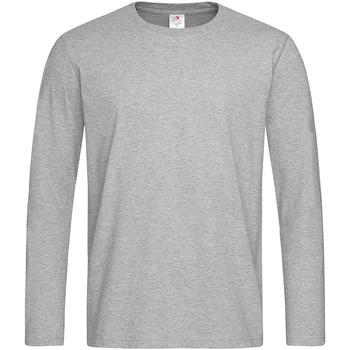 vaatteet Miehet T-paidat pitkillä hihoilla Stedman  Heather Grey