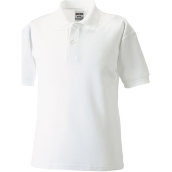 vaatteet Pojat Lyhythihainen poolopaita Jerzees Schoolgear 539B White