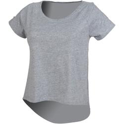 vaatteet Naiset Lyhythihainen t-paita Skinni Fit SK233 Heather Grey
