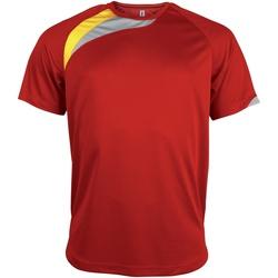 vaatteet Miehet Lyhythihainen t-paita Kariban Proact PA436 Red/ Black/ Storm Grey