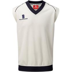 vaatteet Miehet Hihattomat paidat / Hihattomat t-paidat Surridge SU012 White/ Navy trim