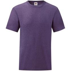 vaatteet Miehet Lyhythihainen t-paita Fruit Of The Loom 61036 Heather Purple