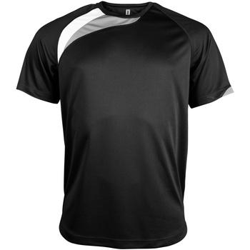 vaatteet Miehet Lyhythihainen t-paita Kariban Proact PA436 Black/ White/ Storm Grey