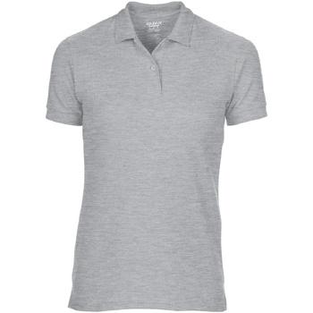 vaatteet Naiset Lyhythihainen poolopaita Gildan 75800L Sport Grey (RS)