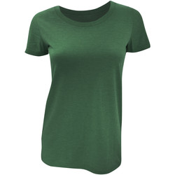vaatteet Naiset Lyhythihainen t-paita Bella + Canvas BE8413 Emerald Triblend