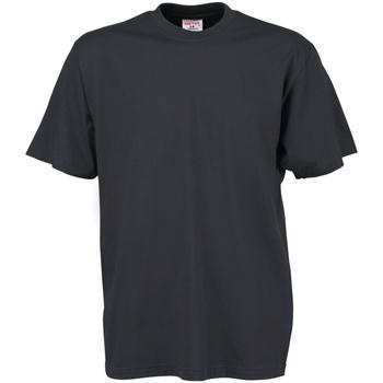 vaatteet Miehet Lyhythihainen t-paita Tee Jays TJ8000 Dark Grey