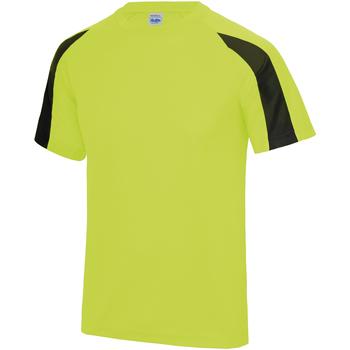 vaatteet Miehet Lyhythihainen t-paita Just Cool JC003 Electric Yellow/Jet Black