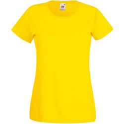 vaatteet Naiset Lyhythihainen t-paita Universal Textiles 61372 Bright Yellow