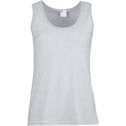 vaatteet Naiset Hihattomat paidat / Hihattomat t-paidat Universal Textiles Fitted Grey Marl
