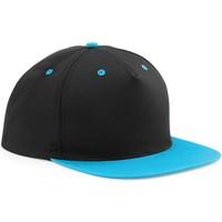 Asusteet / tarvikkeet Lippalakit Beechfield B610C Black/ Surf Blue