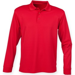 vaatteet Miehet Pitkähihainen poolopaita Henbury HB478 Classic Red