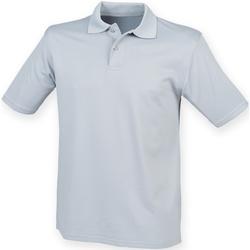 vaatteet Miehet Lyhythihainen poolopaita Henbury HB475 Silver Grey