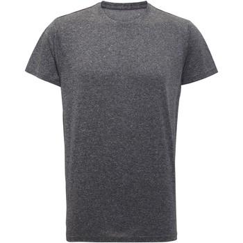 vaatteet Miehet Lyhythihainen t-paita Tridri TR010 Black Melange