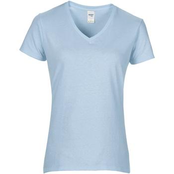 vaatteet Naiset Lyhythihainen t-paita Gildan GD015 Light Blue