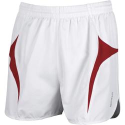 vaatteet Miehet Shortsit / Bermuda-shortsit Spiro S183X White/Red