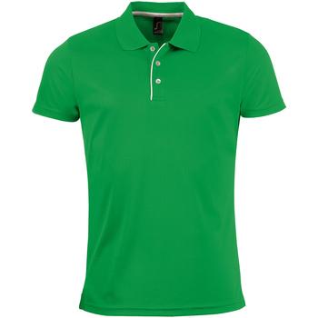 vaatteet Miehet Lyhythihainen poolopaita Sols 01180 Kelly Green