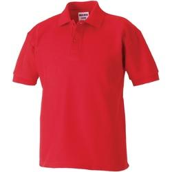 vaatteet Pojat Lyhythihainen poolopaita Jerzees Schoolgear 65/35 Bright Red
