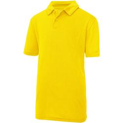 vaatteet Lapset Lyhythihainen poolopaita Awdis JC40J Sun Yellow