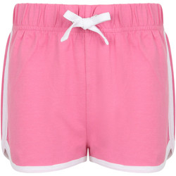 vaatteet Lapset Shortsit / Bermuda-shortsit Skinni Fit SM069 Bright Pink/ White