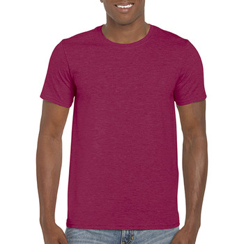 vaatteet Miehet Lyhythihainen t-paita Gildan Soft-Style Heather Cardinal