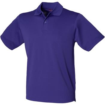 vaatteet Miehet Lyhythihainen poolopaita Henbury HB475 Bright Purple