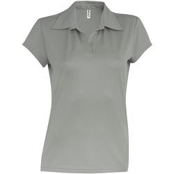 vaatteet Naiset Lyhythihainen poolopaita Kariban Proact PA483 Fine Grey