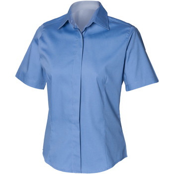 vaatteet Miehet Lyhythihainen paitapusero Henbury HB556 Corporate Blue