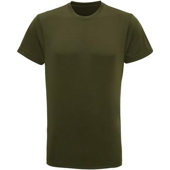 vaatteet Miehet Lyhythihainen t-paita Tridri TR010 Olive