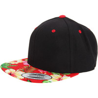 Asusteet / tarvikkeet Lippalakit Yupoong YP003 Black/ Floral Red