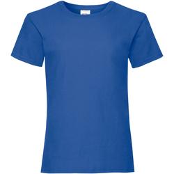 vaatteet Tytöt Lyhythihainen t-paita Fruit Of The Loom 61005 Royal