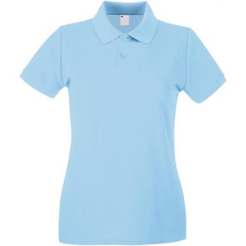 vaatteet Naiset Lyhythihainen poolopaita Universal Textiles 63030 Light Blue