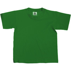 vaatteet Lapset Lyhythihainen t-paita B And C Exact Bottle Green