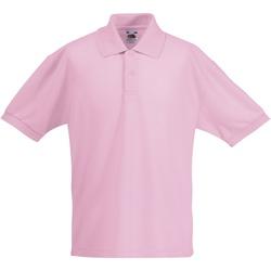 vaatteet Lapset Lyhythihainen poolopaita Fruit Of The Loom 63417 Light Pink