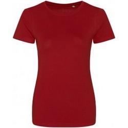 vaatteet Naiset Lyhythihainen t-paita Ecologie EA01F Fire Red